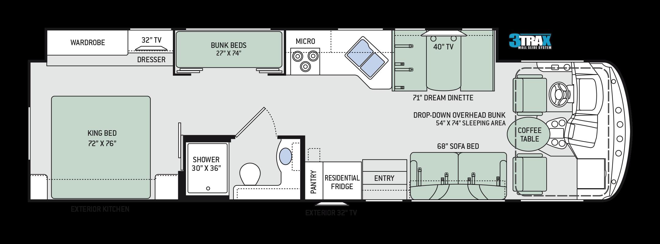 Floor plans hurricane 34j bunkhouse for What is motor planning