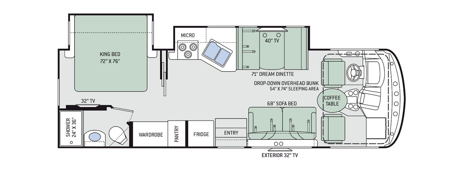 Hurricane Class A Motorhomes Floor Plans Thor Motor Coach Ford 2 9l Engine Diagram 27b 29 3 Gas