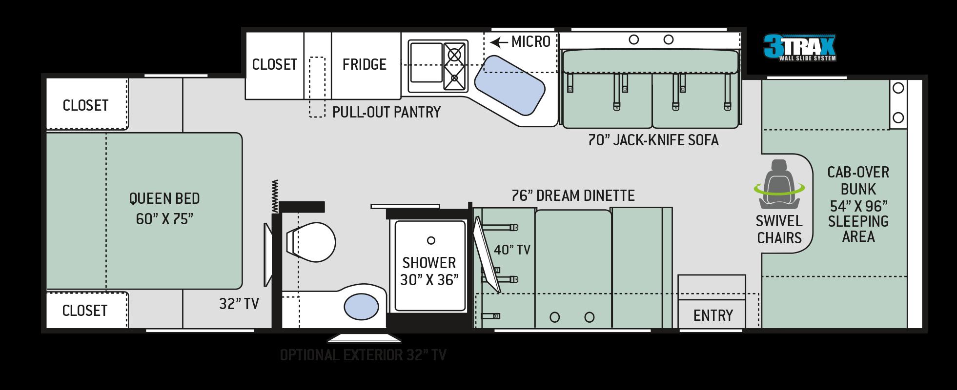 Chateau Class C Motorhomes - Floor Plan: 31Y | Thor Motor Coach