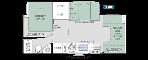 Chateau Class C Motorhomes - Floor Plans   Thor Motor Coach