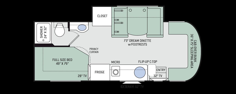Class A Diesel Rv Floor Plans Floor Plan Ideas