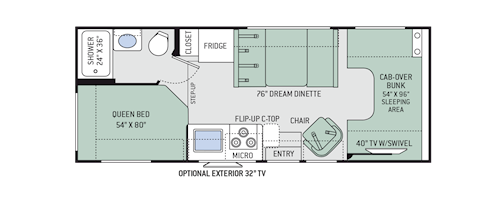 Motorhome floor plans gurus floor for Chateau rv floor plans