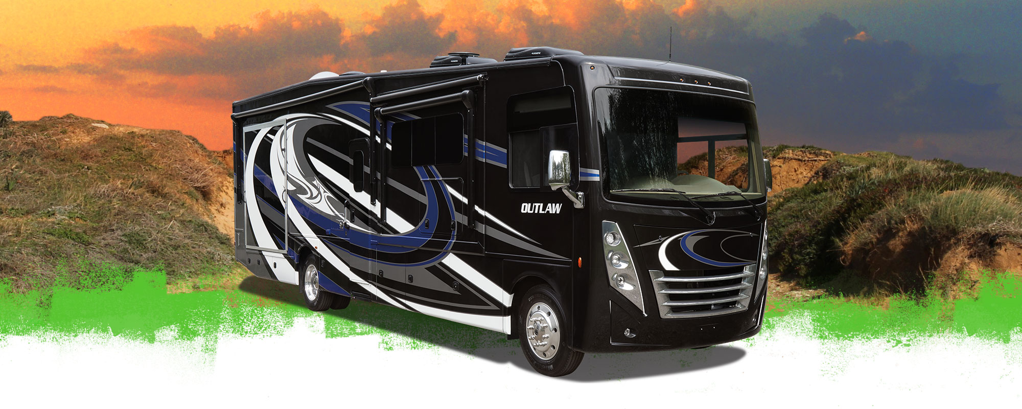 Outlaw 38MB Toy Hauler RVX Show