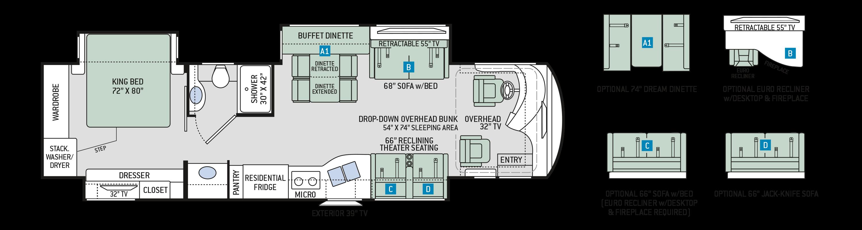 Venetian Class A Diesel Motorhomes Floor Plan M37 Thor Motor Coach Motorhome Wiring Diagram