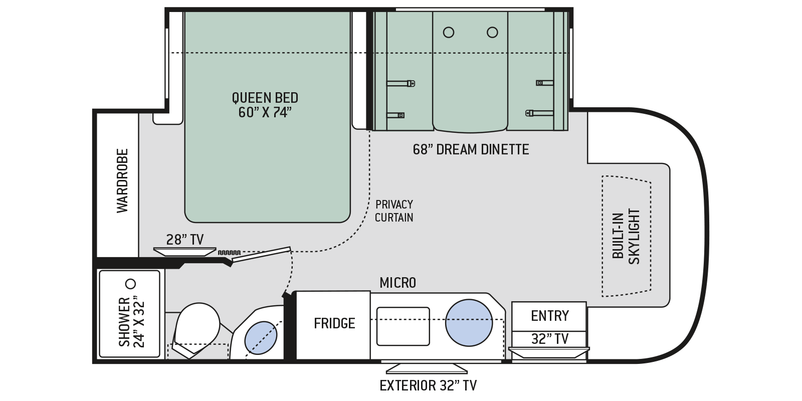 Compass Ruv Class C Motorhomes Floor Plan 23tw Thor