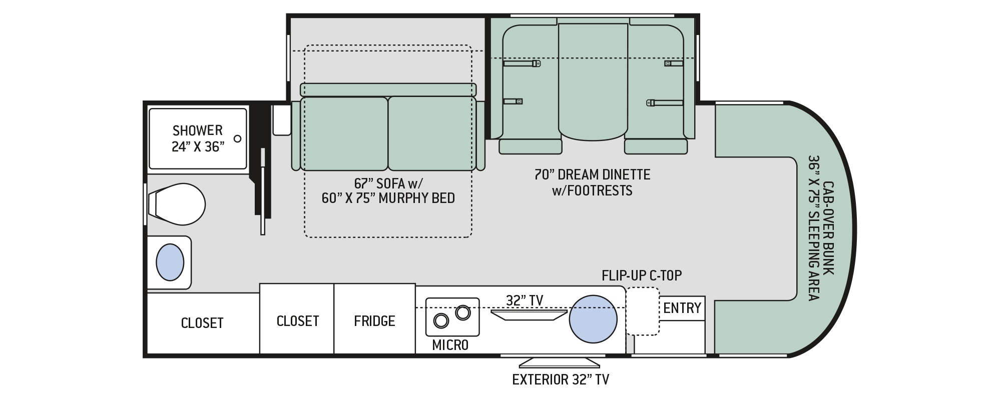 Floor Plan Siesta Sprinter 24mb