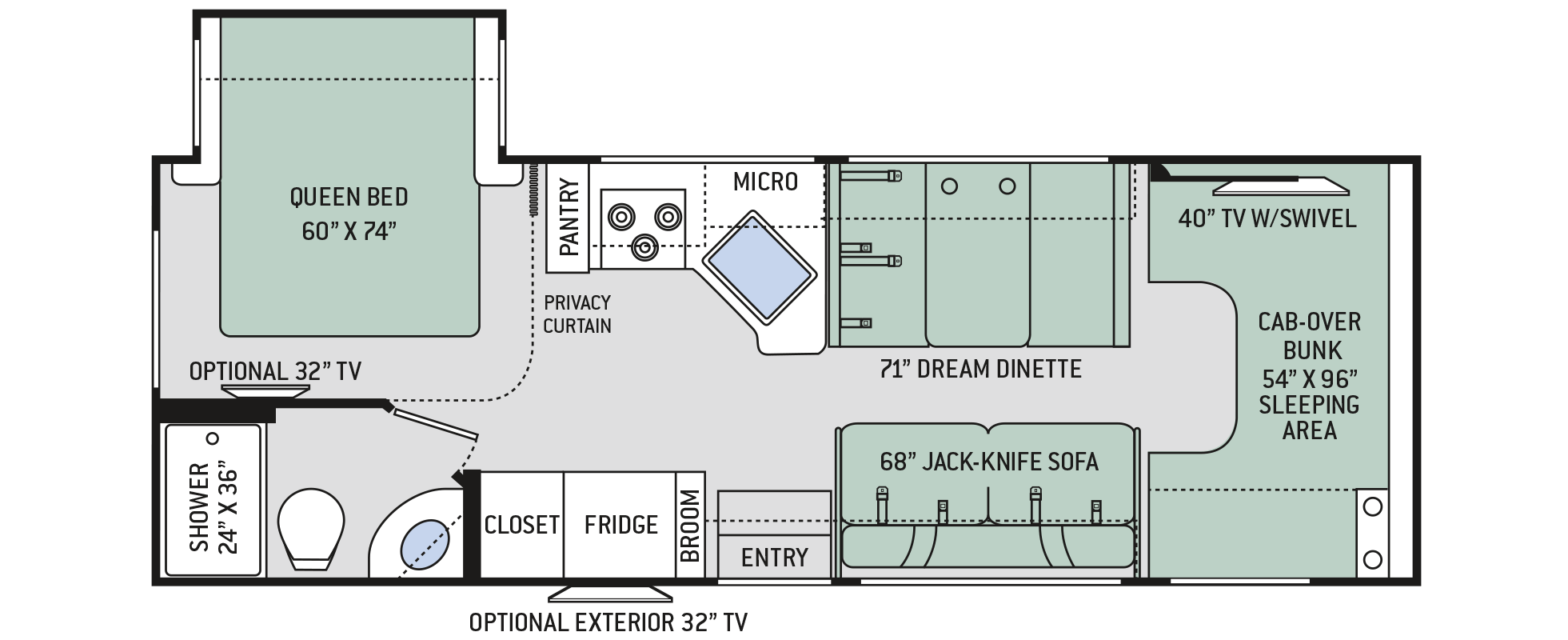 Four Winds Class C Motorhomes Floor Plan 26b Thor