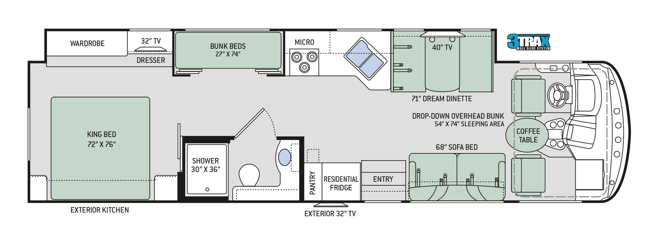 Floor Plans Hurricane 34j Bunkhouse
