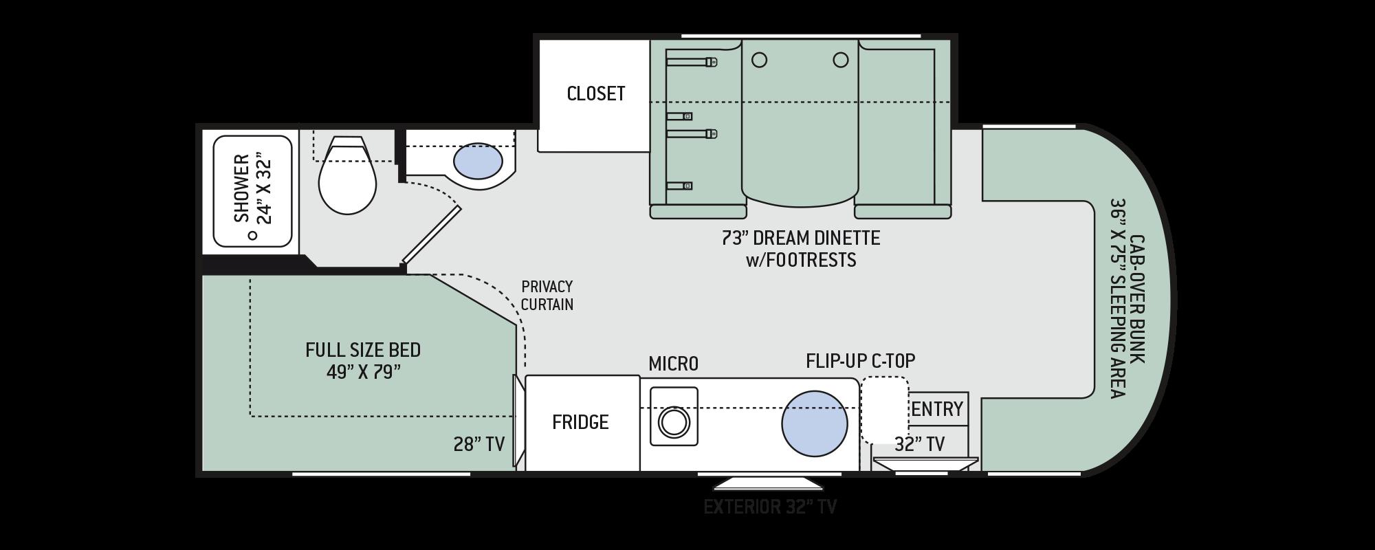 Floor Plans Siesta Sprinter 24sj Thor Motorhome Wiring Diagram