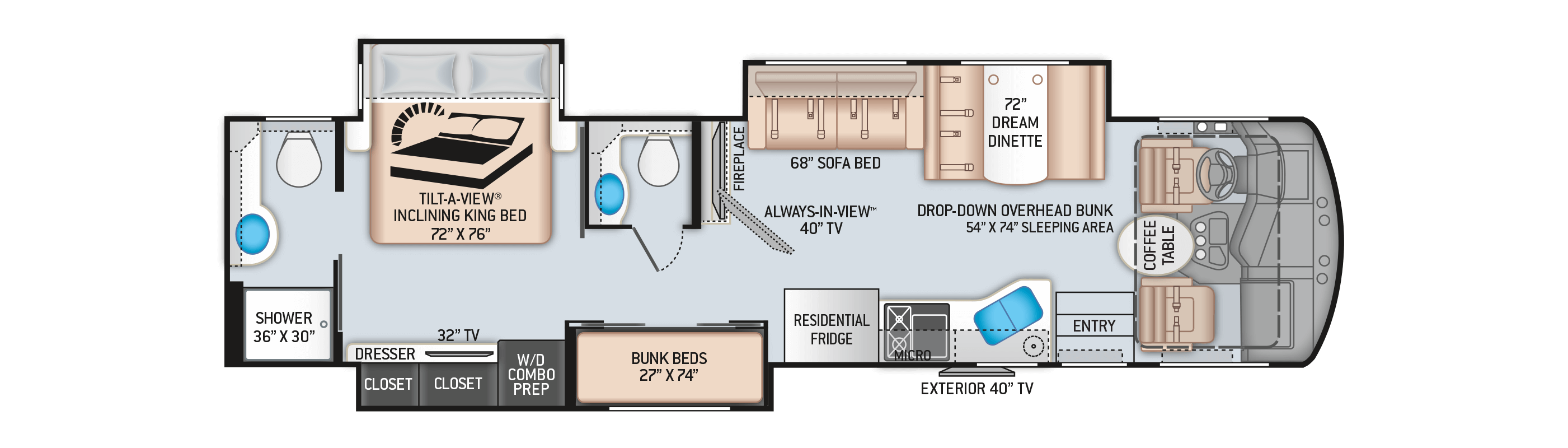 diagram of bunkhouse floor plans challenger 37tb bunkhouse  floor plans challenger 37tb bunkhouse