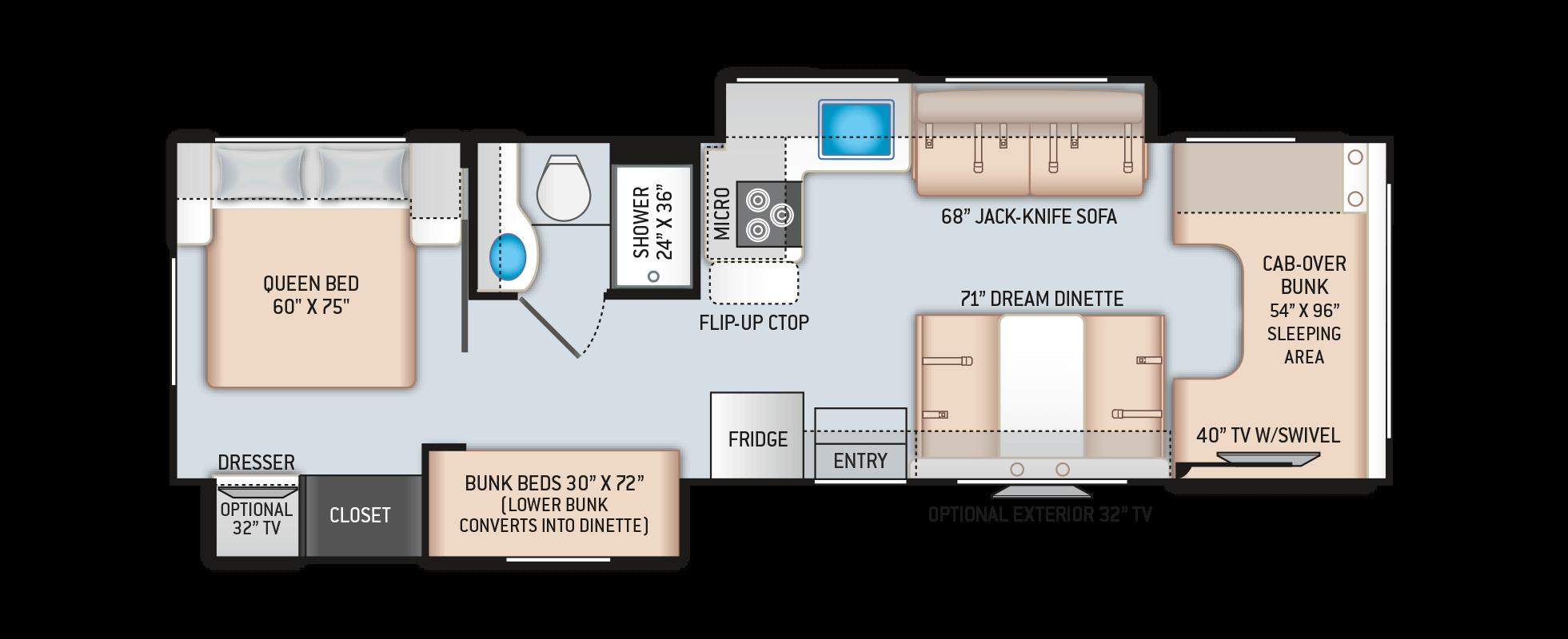 Floor Plans Four Winds: 30D