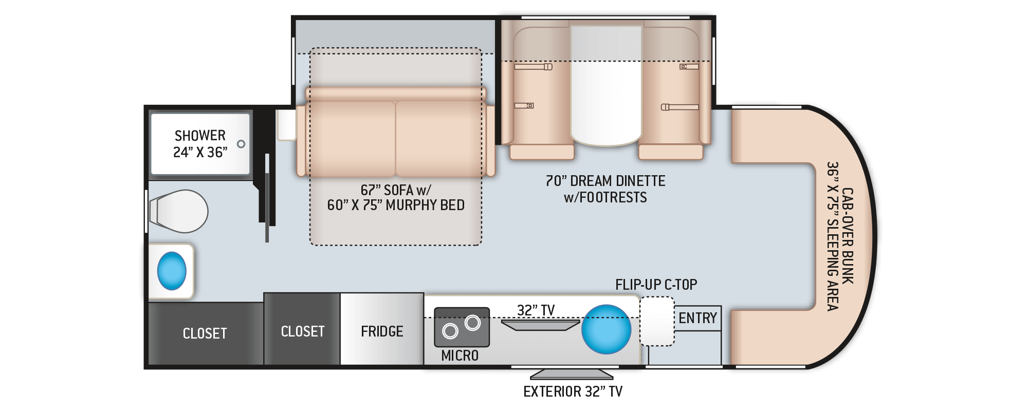 Floor Plan Siesta Sprinter 24mb