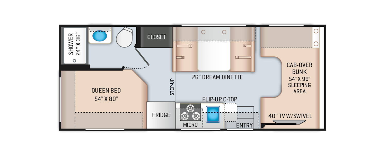 Daybreak Class C Motorhomes - Floor Plans