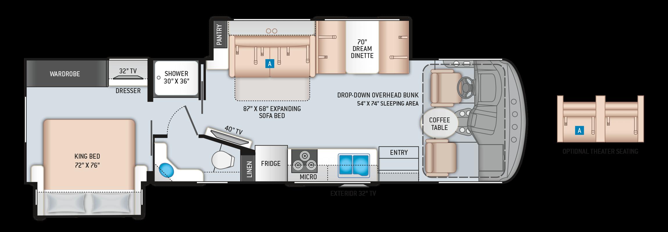 Hurricane 32T Floor Plan
