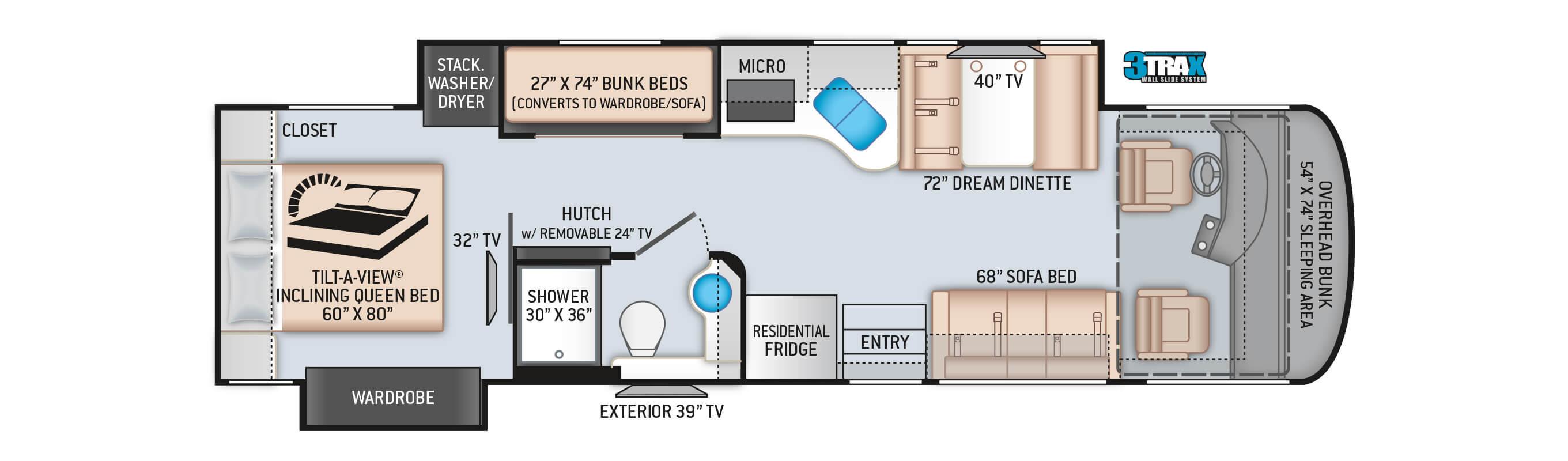2020 Palazzo 33.5 Floor Plan