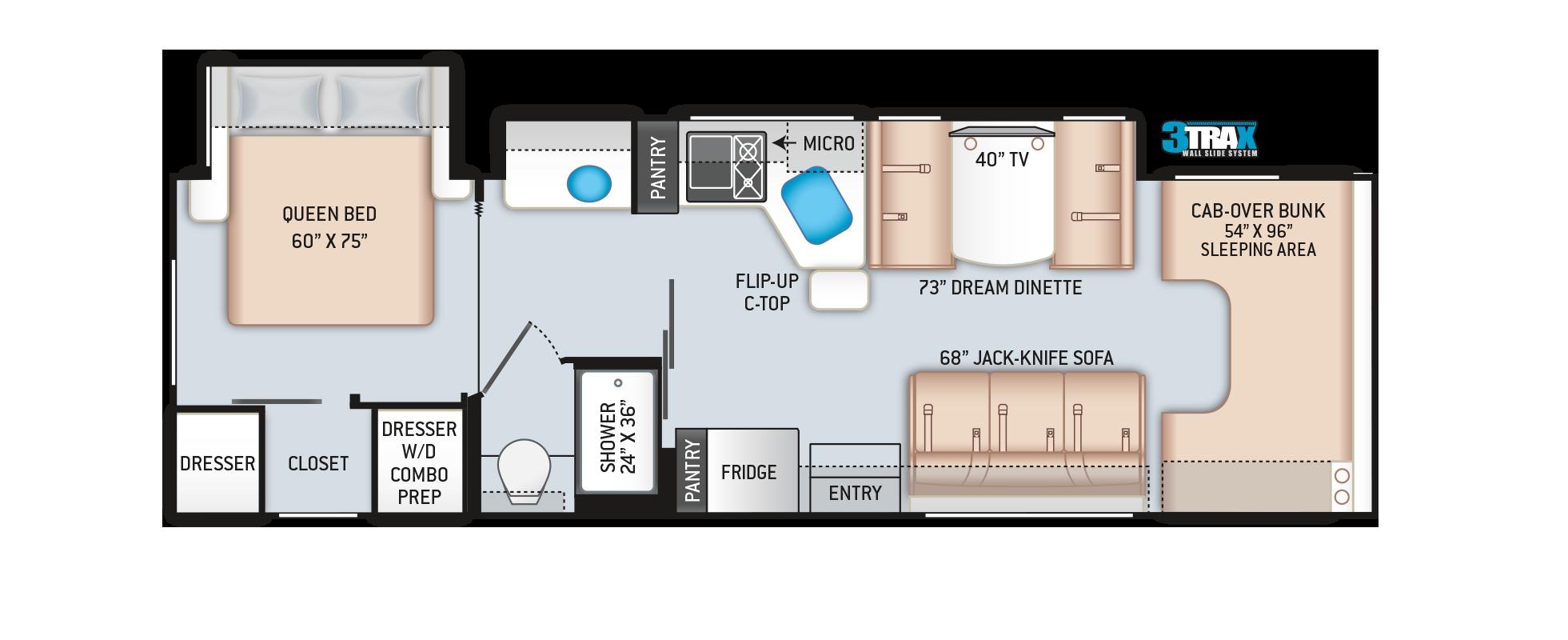 2020 Chateau RV 31BV Floor Plan