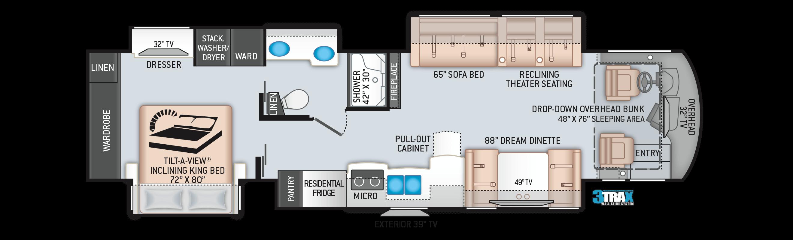 Aria 3902 diesel pusher floor plan