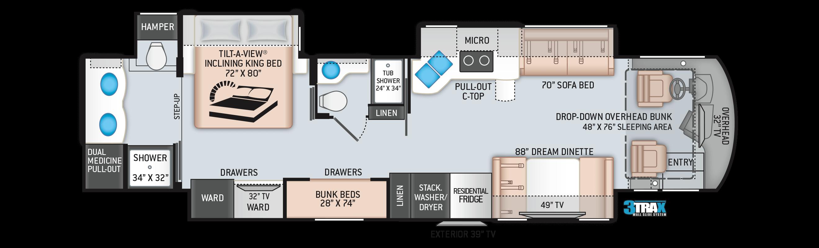 2020 Aria 4000 Floor Plan