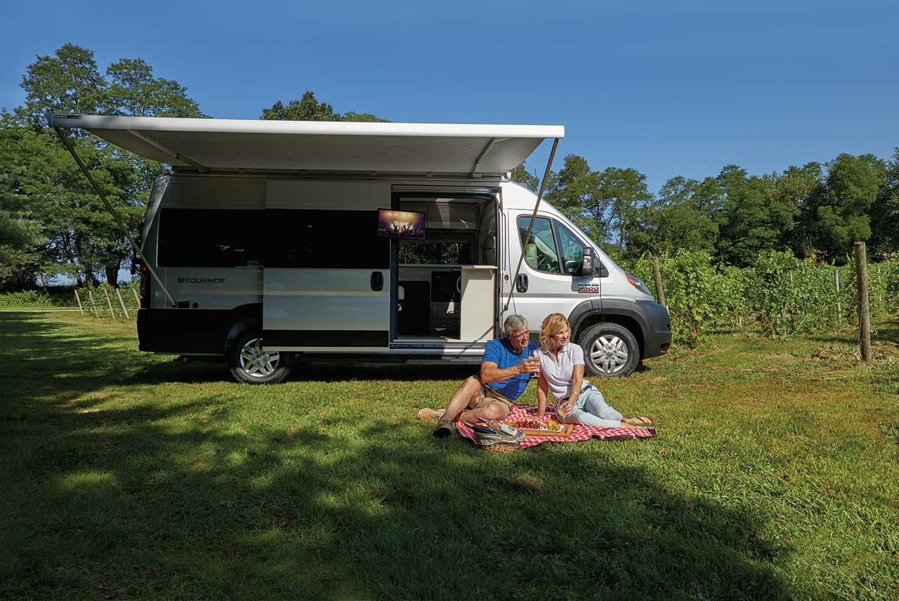 Van life in a Sequence Camper Van