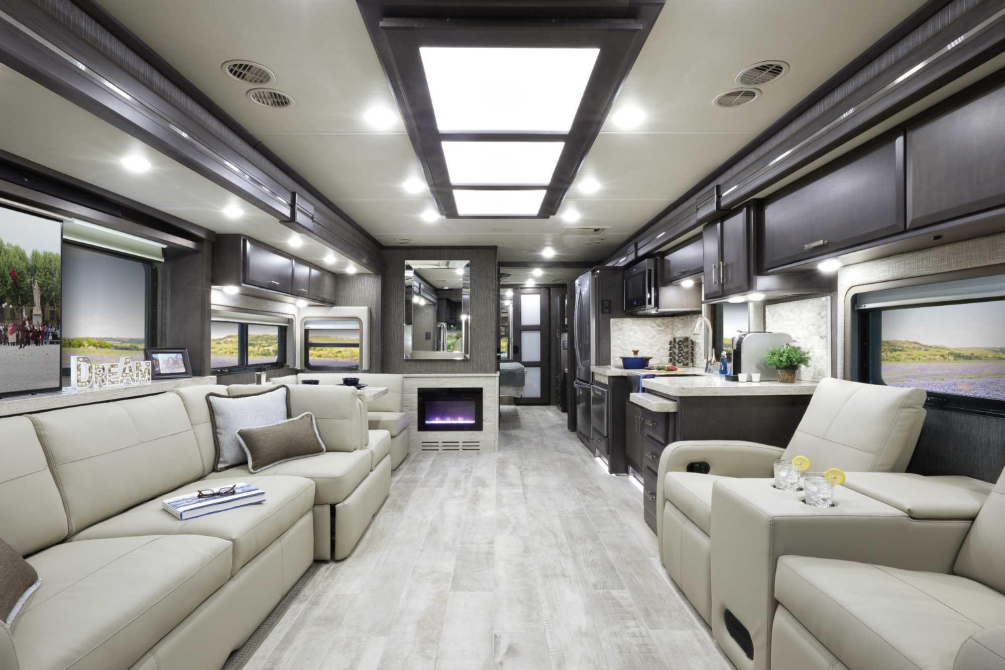 tuscany class a diesel rv interior