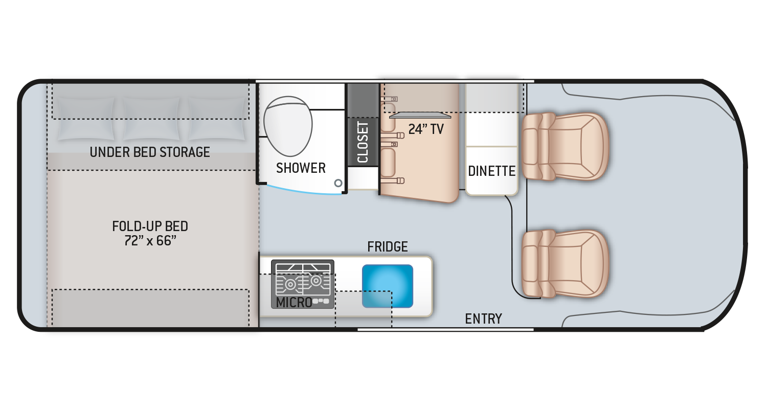 2021 Tellaro Camper Van 20AT Floor Plan