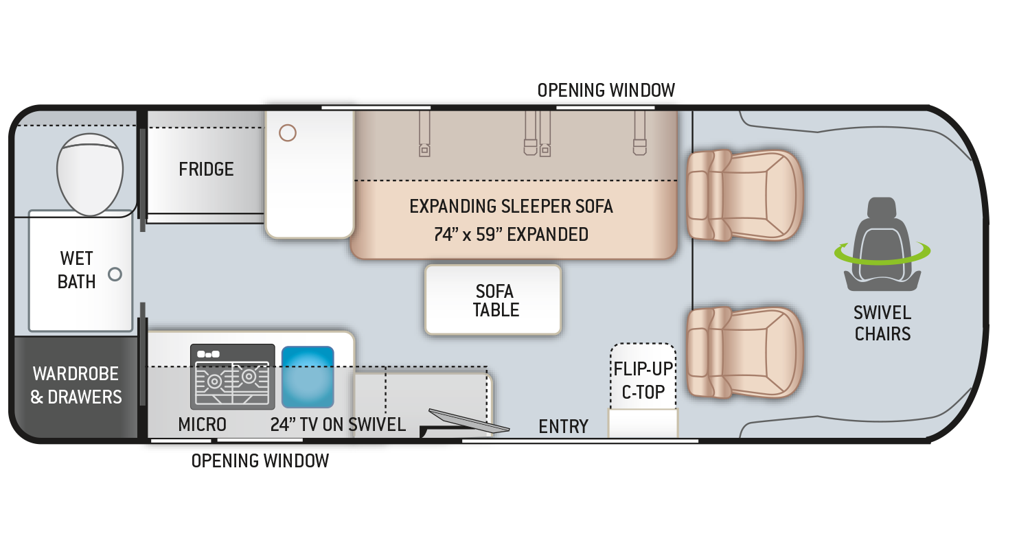 Introducing New Class B Rv Floor Plans By Thor Motor Coach