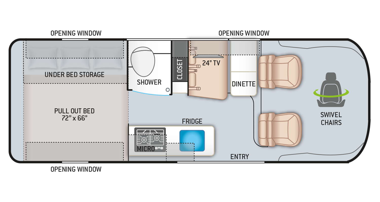 Sequence Class B RV 20A Floor Plan