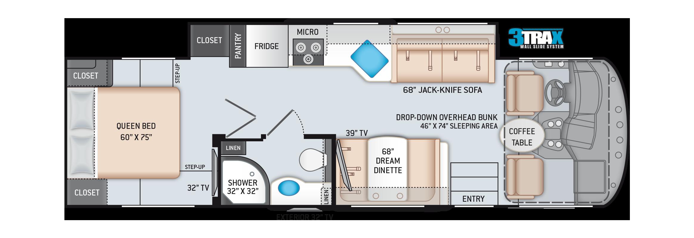 A.C.E. Class A Motorhome 30.4 Floor Plan