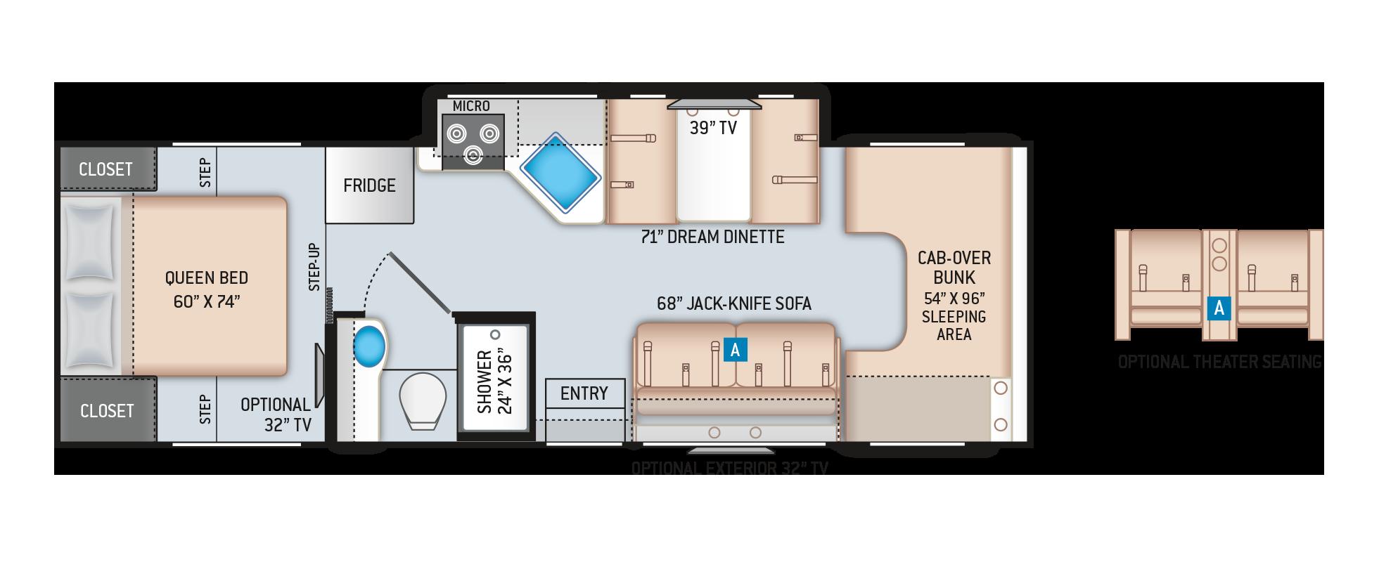 Four Winds Class C Motorhome 28Z Floor Plan