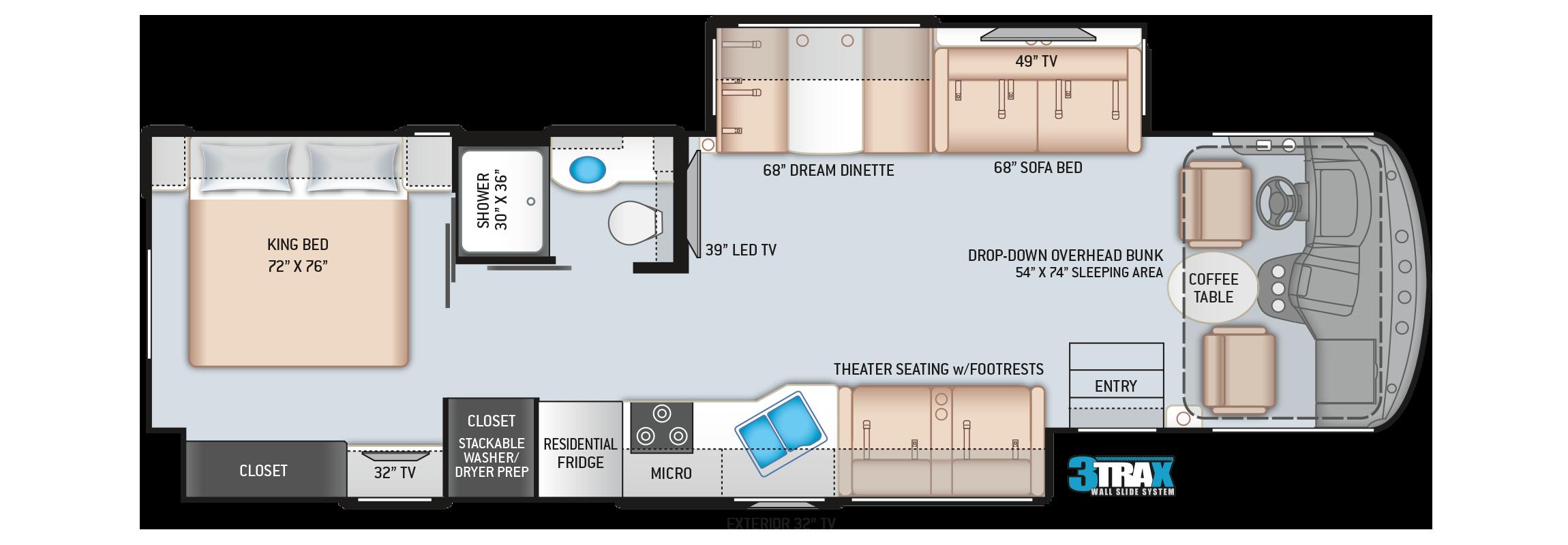 Windsport Class A Motorhome Floor Plan 34R