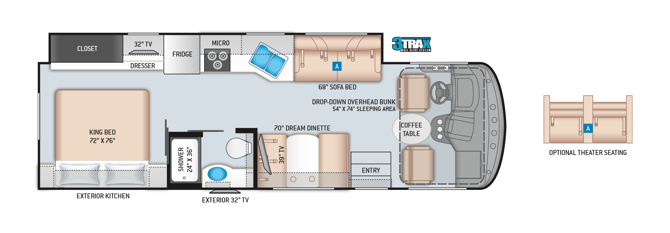 Windsport Class A Motorhome Floor Plan 29M