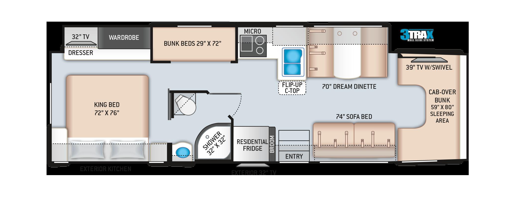 Magnitude Super C RV Floor Plan BB35