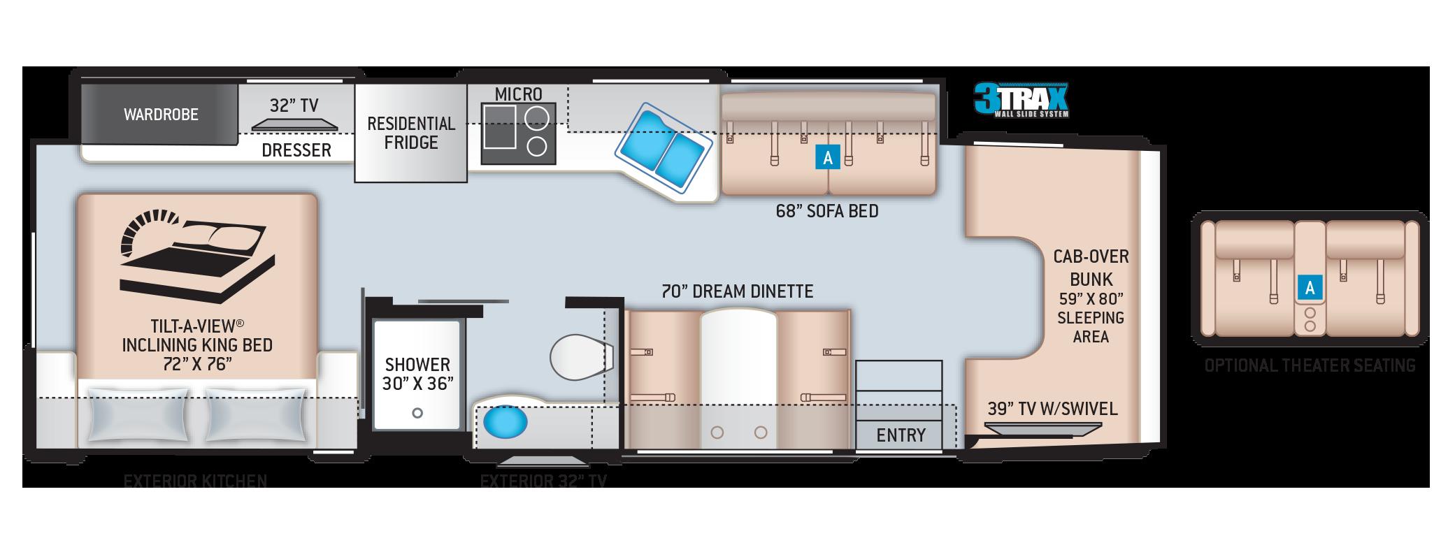Omni Super C RV Floor Plan SV34