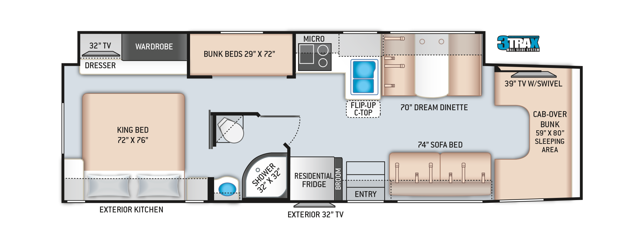 Omni Super C RV Floor Plan BB35