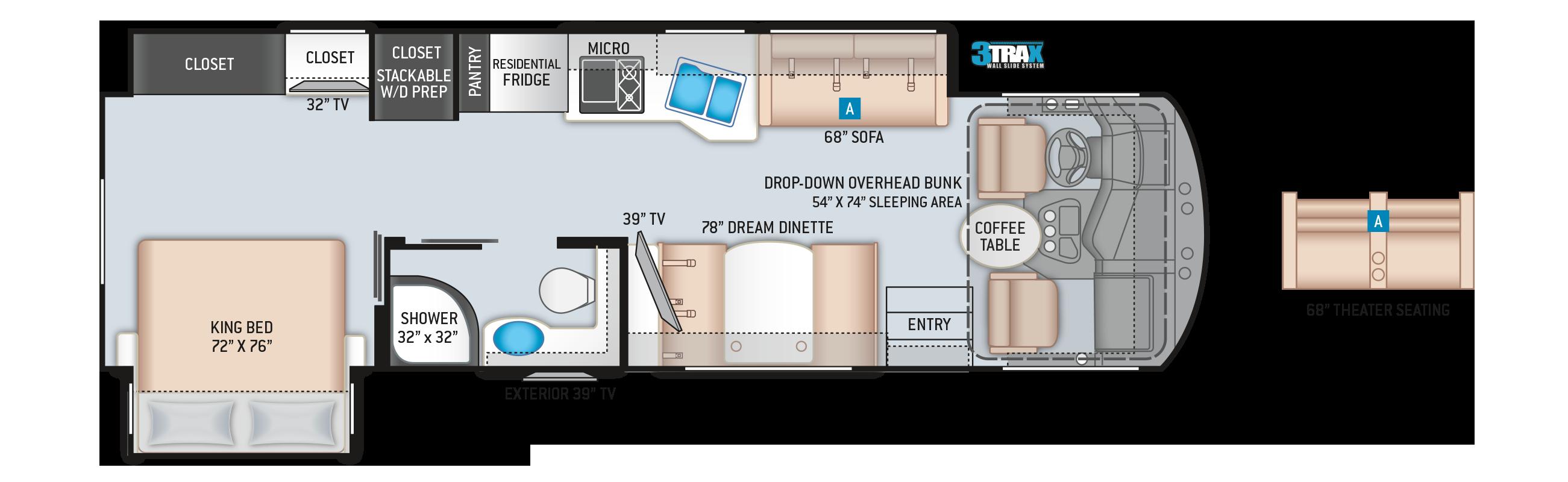 Miramar Class A RV Floor Plan 32.2