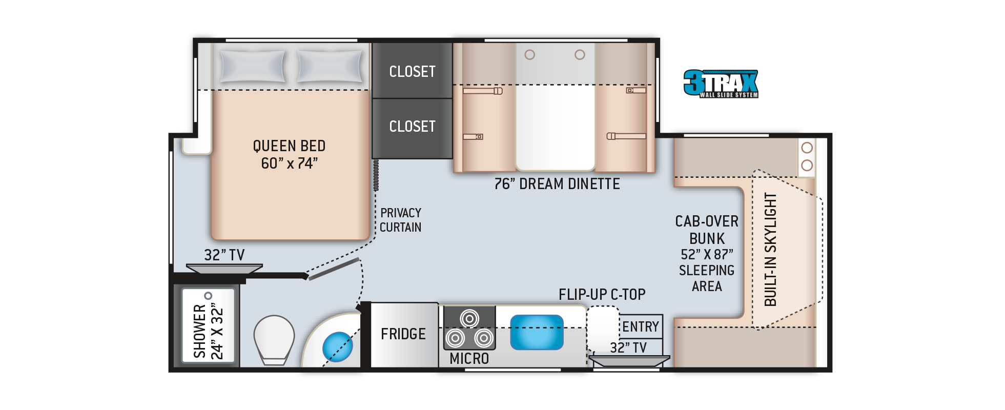Quantum Sprinter RV Floor Plan KM24