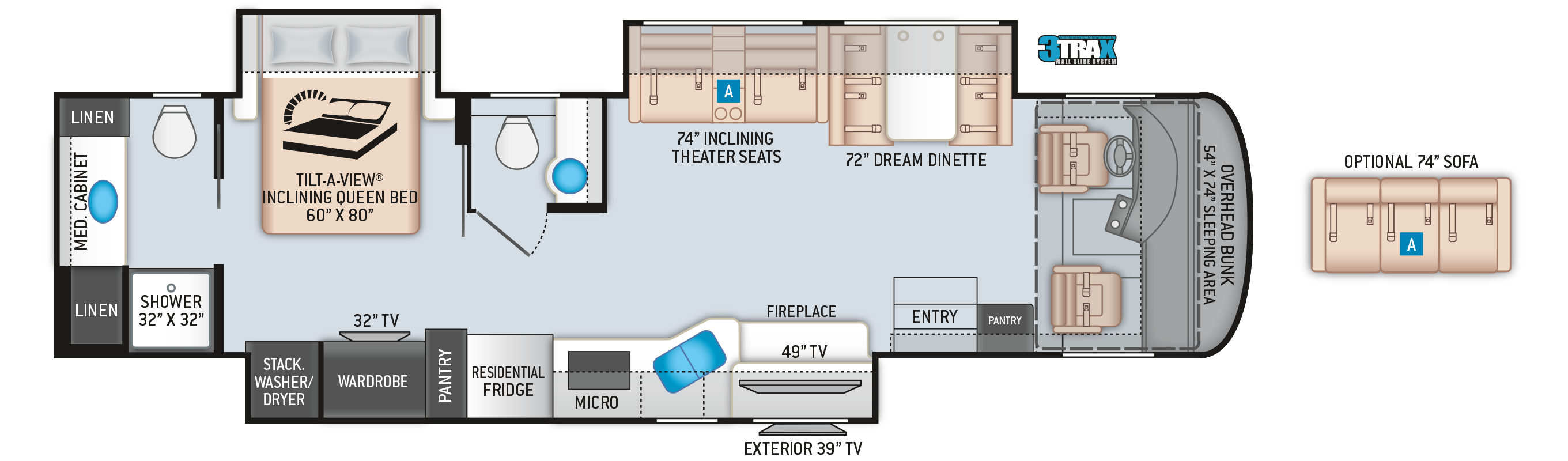 Palazzo Class A Diesel Pusher Motorhome 37.5 Floor Plan