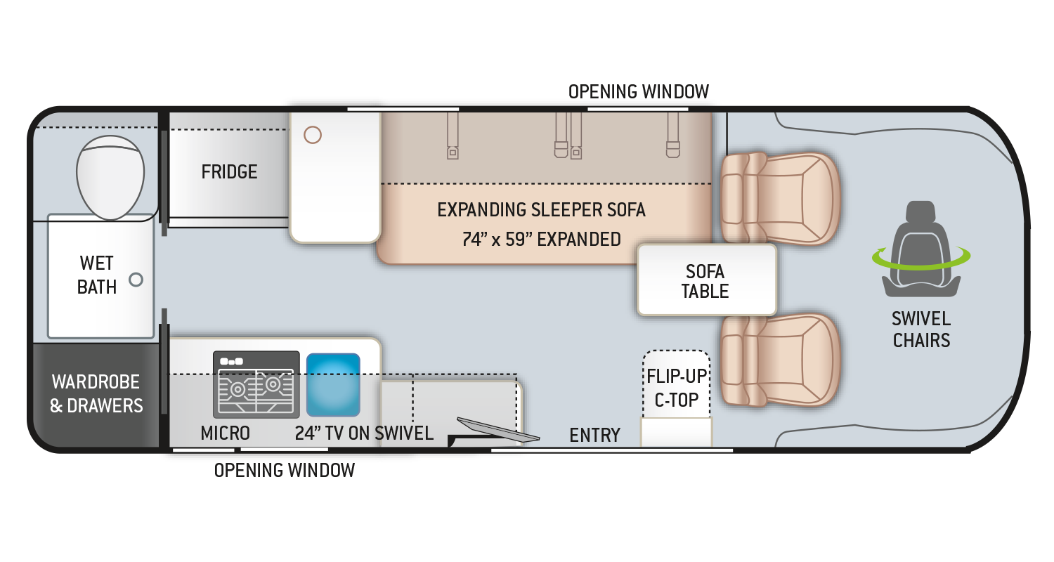 Sequence Class B RV 20K Floor Plan