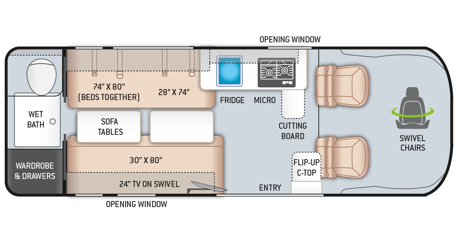 Sequence Class B RV 20L Floor Plan