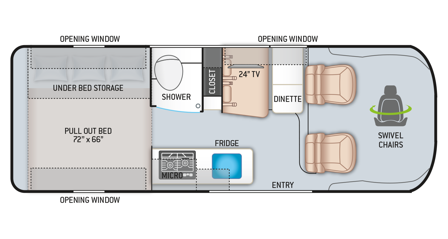 Sequence Class B RV 20A Floor Plan