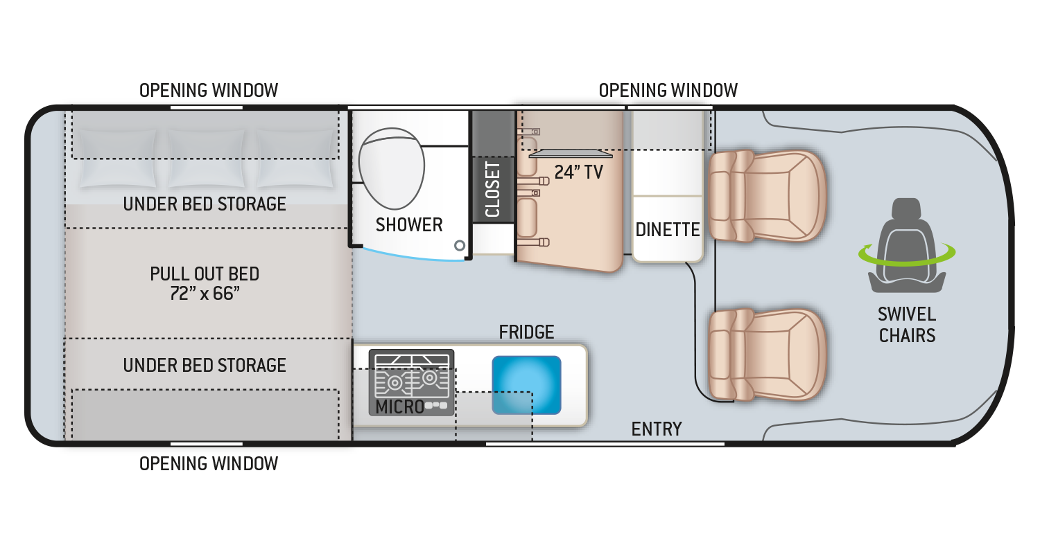 Tellaro Class B RV 20AT Floor Plan