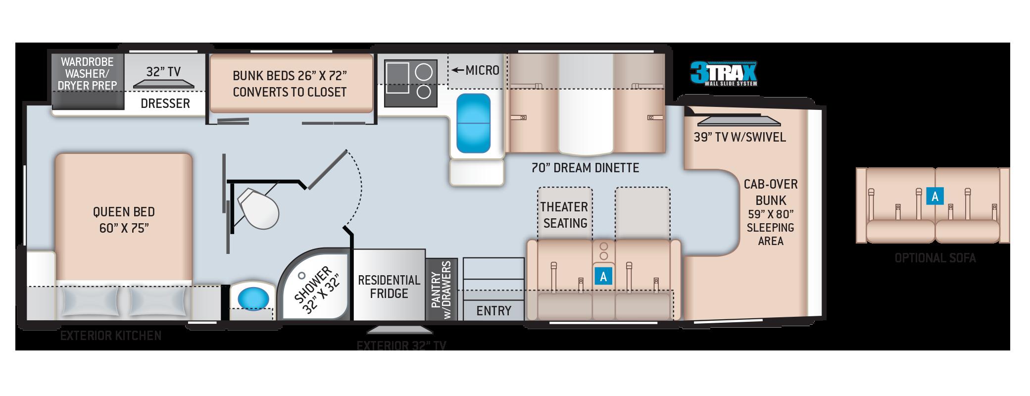 Omni Super C RV RB34 Floor Plan
