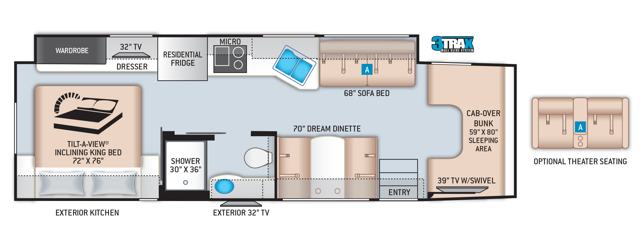 Omni Super C RV SV34 Floor Plan
