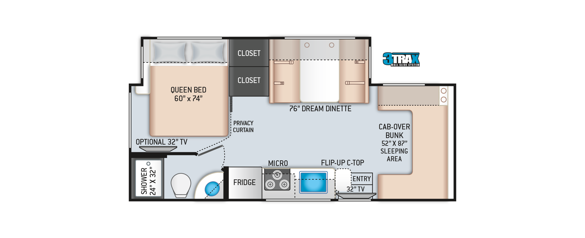 Chateau Mercedes Sprinter RV 24BL Floor Plan
