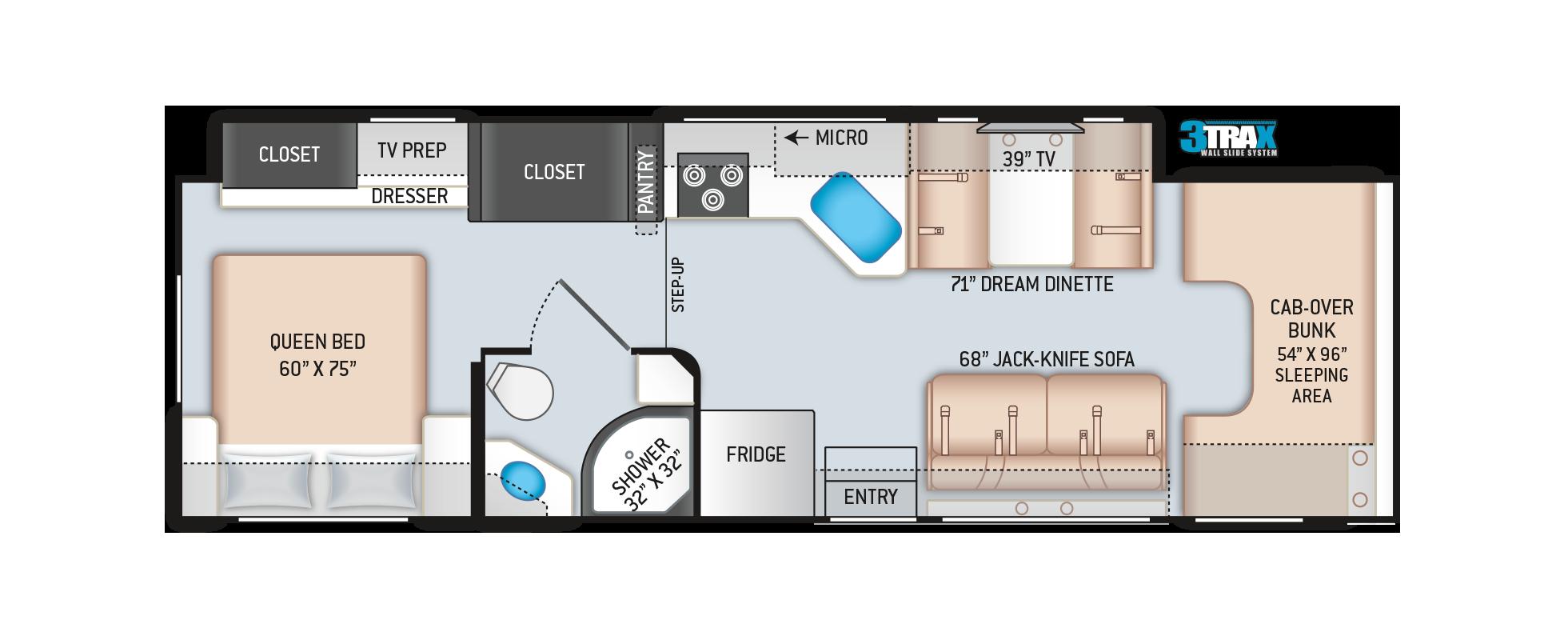 Chateau Class C Motorhome 31WV Floor Plan