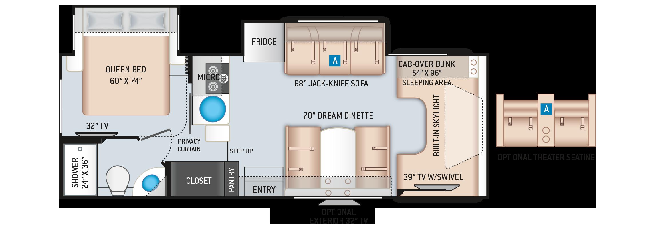 Quantum Class C Motorhome LH26 Floor Plan