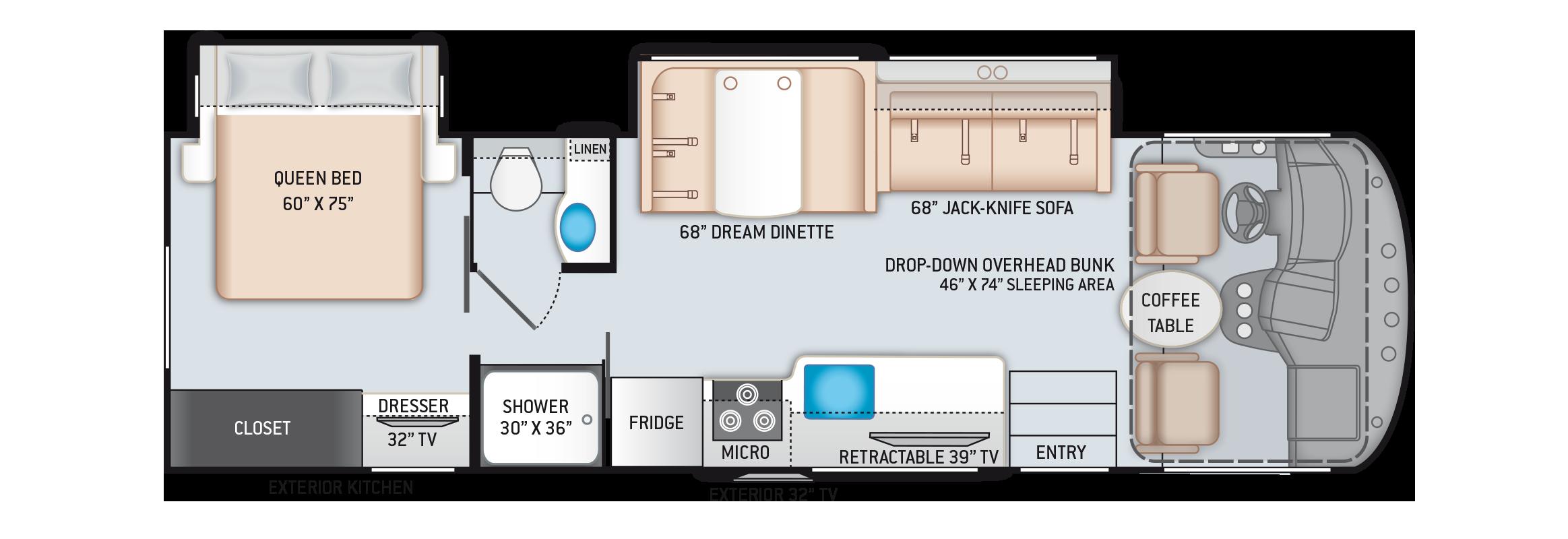 A.C.E. Class A Motorhome 30.3 Floor Plan