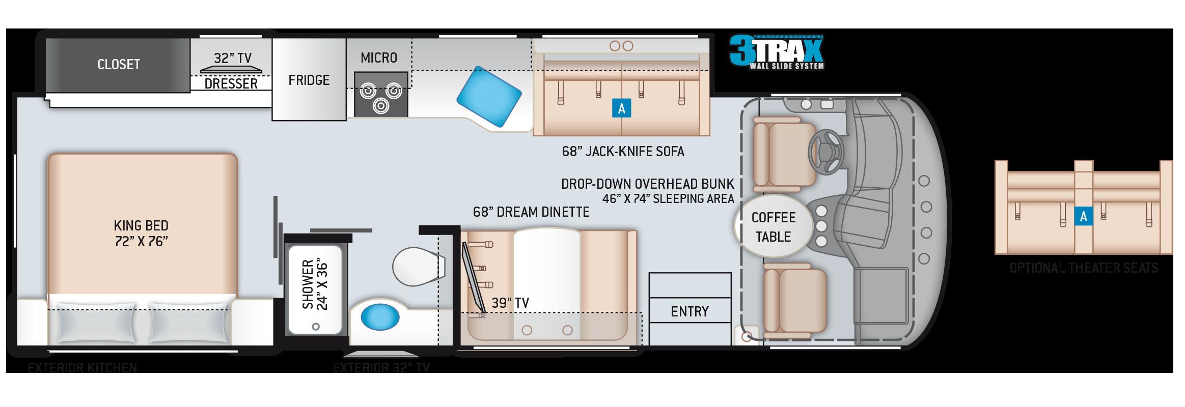 A.C.E. Class A Motorhome 29.5 Floor Plan