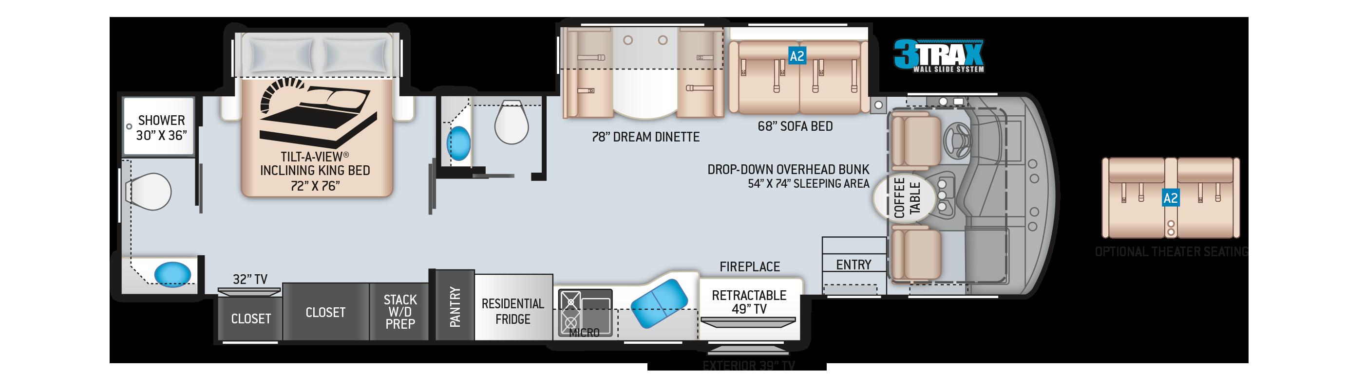Challenger Class A Motorhome 37FH Floor Plan