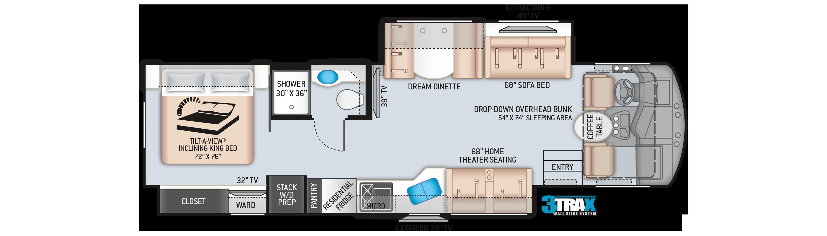 Challenger Class A Motorhome 35MQ Floor Plan